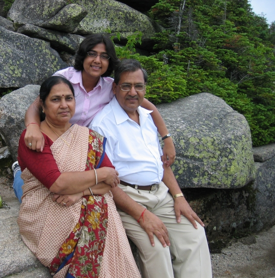 Vermont, 2004. Dad and Mom visited me in the States.