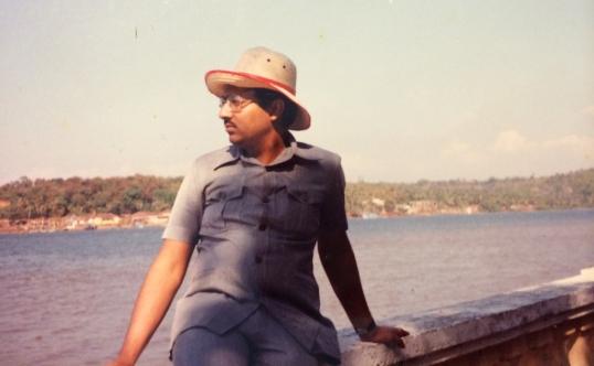 Mumbai, 1987. One of the few vacations we took.