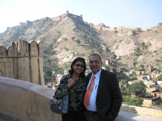 2010. Dad and I took a road trip to Jaipur, India. The only way to spend time with him, was to get him in a car!
